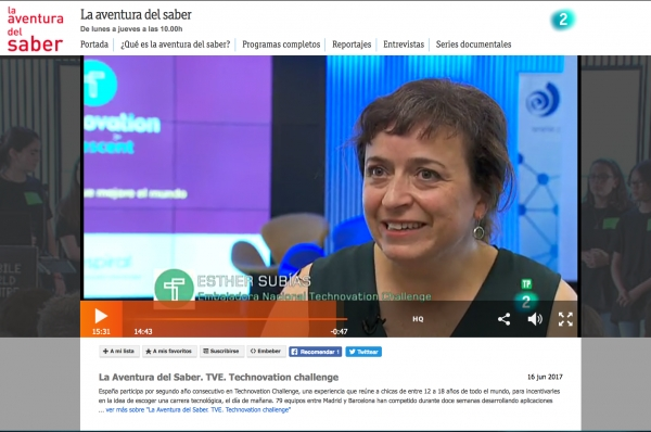 Technovation Challenge a l'Aventura del Saber